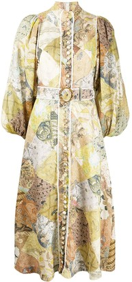 Zimmermann Brightside Batik Patch-print linen dress