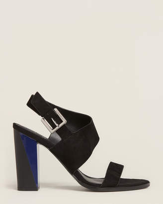 Calvin Klein Black Carina Suede Sandals
