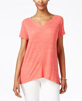 Style&Co. Style & Co. Petite Ribbed High-Low T-Shirt, Only at Macy's
