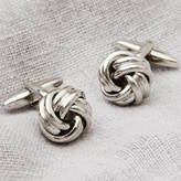 Atticus Double Knot Silver Plated Cufflinks