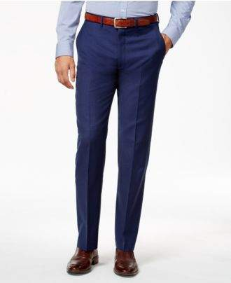 Ryan Seacrest Distinction Men's Mid Blue Modern Fit Pants, Created for Macy's