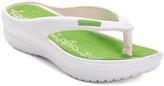 Star Bay Women's Flip-Flops Green - Green & White Flip-Flop - Women