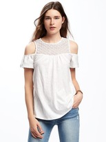Old Navy Cut-Out Shoulder Swing Top for Women