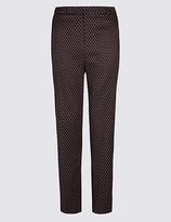 M&S Collection Jacquard Print Slim Leg Trousers