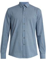 Lanvin Single-cuff checked cotton shirt