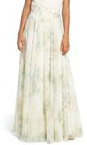 Jenny Yoo 'Hampton' Print Chiffon Long A-Line Skirt
