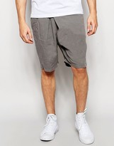 Lindbergh Loose Shorts With Fold Over Front In Gray