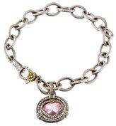 Judith Ripka Crystal & Diamond Link Bracelet