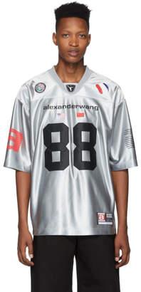 Alexander Wang Silver High Shine Football Jersey