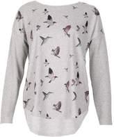 Izabel London Bird Flight Zip-Back Top