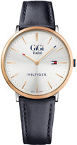 Tommy Hilfiger Women's Gigi Hadid Edition Navy Leather Strap Watch 40mm 1781748