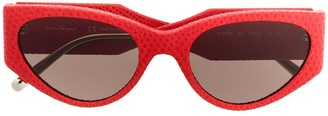 Salvatore Ferragamo Leather Oversized Sunglasses