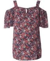 Dorothy Perkins Womens **Maternity Multi Coloured Tie Cold Shoulder Top- Multi Colour