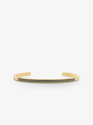 Michael Kors 14K Gold-Plated Sterling Silver Pave Nesting Cuff