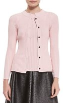 Creatures of the Wind Ribbed Button-Front Cardigan, Pink