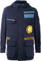 Fendi military jacket - men - Cotton/Nylon/Polyamide/Wool - 46