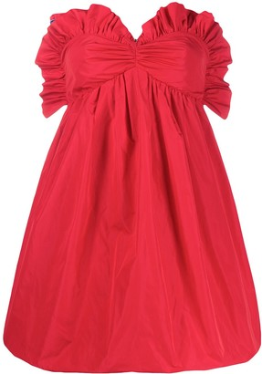 Philosophy di Lorenzo Serafini Ruffled Sweetheart Mini Dress