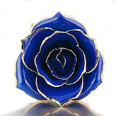 ZJchao Single 24 Carat Gold Dipped Long Stem Rose Flower Gifts For Her