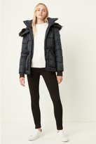 French Connenction Plaid Puffer Coat