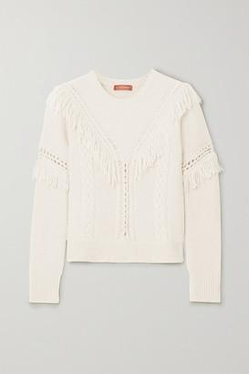 Altuzarra Buckeye Fringed Knitted Sweater - Ivory