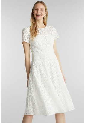 Esprit Lace Short-Sleeved Dress