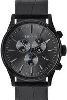 Nixon Black Sentry Chrono Gator Leather Strap Watch