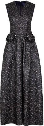 Talbot Runhof Momo embellished lame jacquard gown