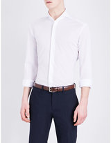 Ralph Lauren Purple Label Spread-collar Tailored-fit Cotton-piqué Shirt