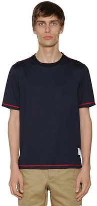Thom Browne Cotton Jersey T-shirt W/ Side Slits