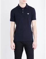 Armani Jeans Grosgrain Stretch-cotton Polo Shirt