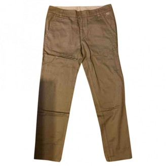 Nike Khaki Cotton Trousers for Women