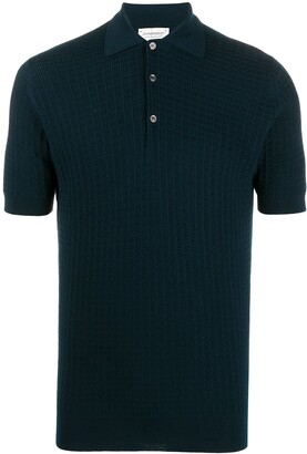 John Smedley Textured Polo Shirt