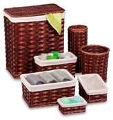 Honey-Can-Do Brown/Cherry Wicker 7-Piece Hamper Kit