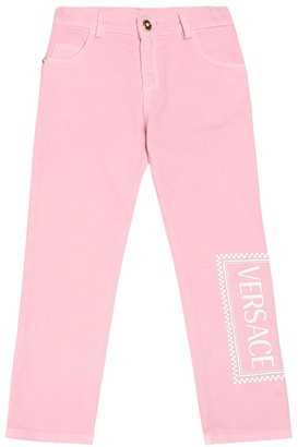 Versace Kids Logo stretch jeans