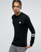 Love Moschino Sleeve Stripe Jumper With Chest Print