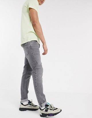 Weekday Sunday relaxed tapered jeans in gray