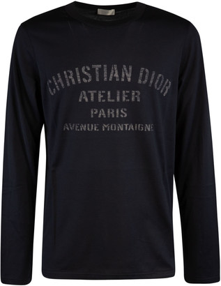 Christian Dior Logo Print Long-sleeved T-shirt