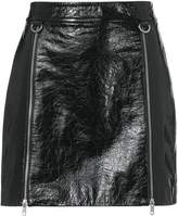 Mason Double Zip-Up Patent Leather Skirt