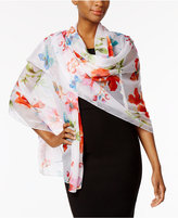 INC International Concepts Floral Evening Wrap, Only at Macy's