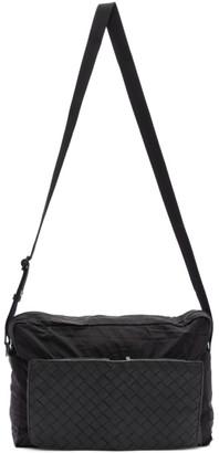 Bottega Veneta Black Intrecciato Packable Messenger Bag
