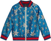 Gucci Children's lurex star bomber jacket
