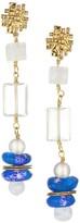 Vila Akola McClain Gemstone & Glass Goldtone Drop Earrings