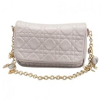 Christian Dior Lady Grey Leather Clutch bags