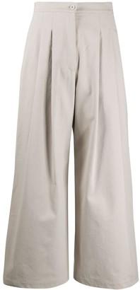 Katharine Hamnett Wide Leg Pleat Detail Trousers