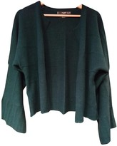 MANGO Green Cashmere Jacket for Women