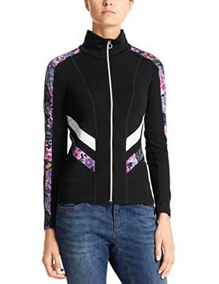 Marc Cain Women's Banded Collar Long Sleeve Jacket - Multicolour - UK 8