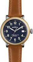 Shinola Runwell Coin Edge Watch with Sunflower Leather Strap, 38mm