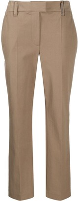 Brunello Cucinelli Straight-Leg Cropped Trousers