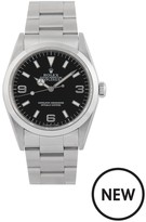 Rolex Pre-Owned Explorer Black Dial Stainless Steel Mens Watch Ref 14270
