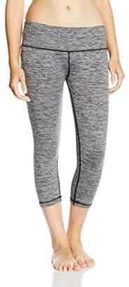 Skiny Women's Yoga & Relax Leggings 3/4 Pyjama Bottoms, (Black Grey Melange 5781), (Size: 38)